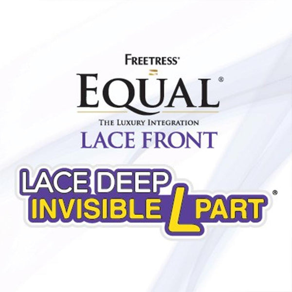 "FreeTress Equal Lace Deep Invisible ""L"" Part Lace Front Wig - FLEXI CURL BRAIDS"