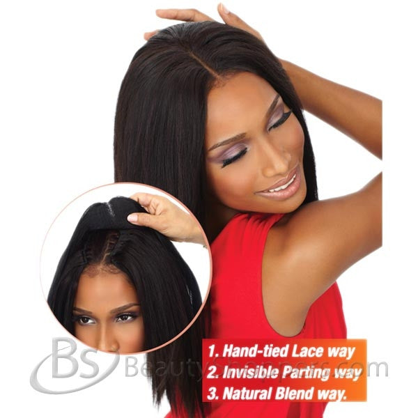"Goddess Remi Human Hair Piece - 3 WAY PART™ YAKI CLOSURE 10""~12"""