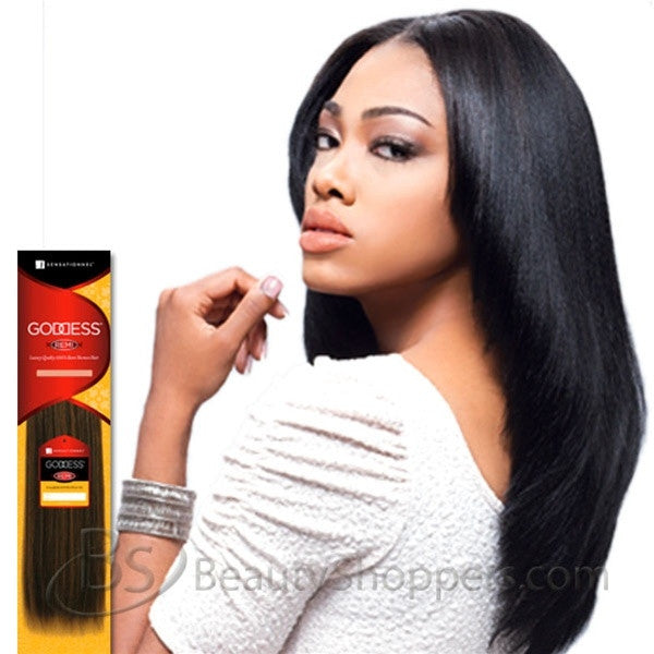 Goddess Original Remi Human Hair Weave Natural Yakiyaky Weaving