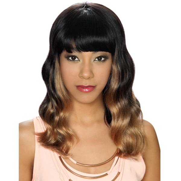 Hollywood Sis Unprocessed Brazilian Remy Human Hair Wig - SEA WAVE