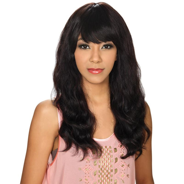 Hollywood Sis Unprocessed Brazilian Remy Human Hair Wig - STRAIGHT