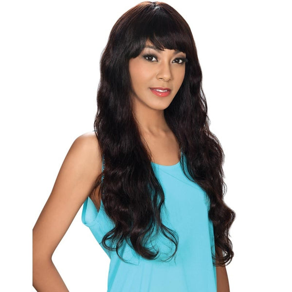 Hollywood Sis Unprocessed Brazilian Remy Human Hair Wig - STRAIGHT EXL.