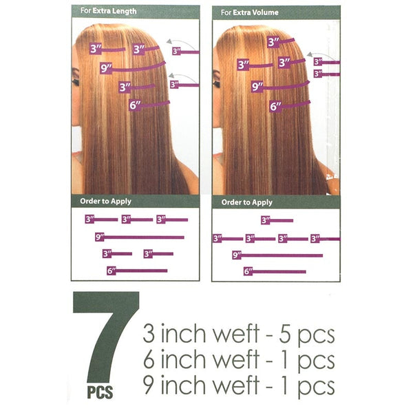 Hollywood Remy Hair Extension - Clip-On 7 Remy (7 pcs)