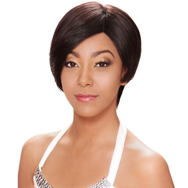 "Hollywood Sis Remy Hair ""C"" Part Deep Lace Front Wig - HRH EVETTE"