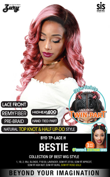 Zury Sis Beyond Twin-Part Lace Front Wig - BESTIE 24""