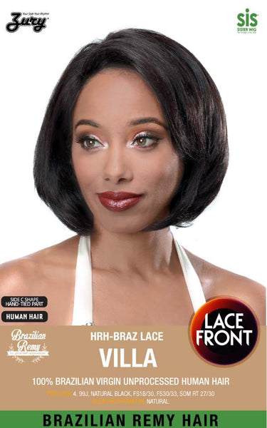 "Sis Unprocessed Human Hair Lace Front Wig - VILLA (10"")"
