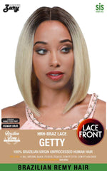 "Sis Unprocessed Human Hair Lace Front Wig - GETTY (12"")"