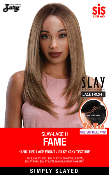 Sis Slay Free Shiftable ZigZag Part Lace Front Wig - FAME