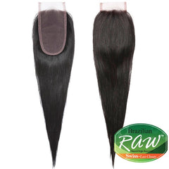 ISIS Raw Brazilian Hair Swiss Lace Closure - STRAIGHT 14""