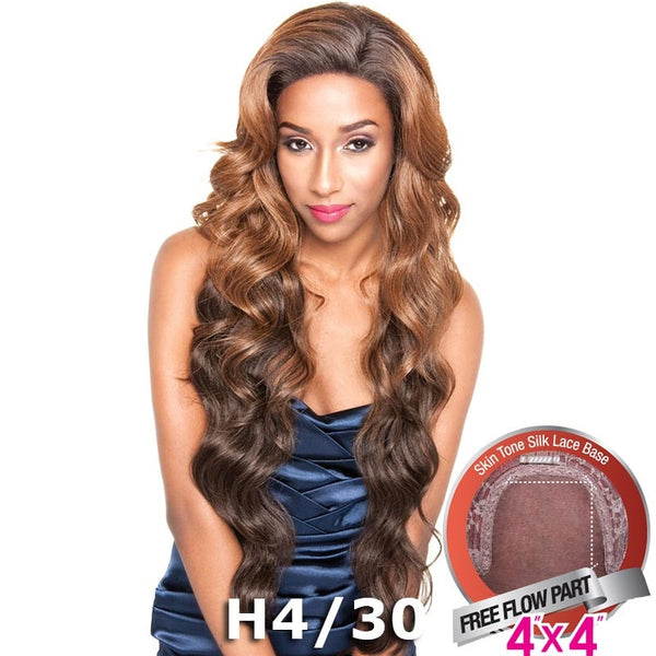 "Mane Concept Brown Sugar Human Hair Blend Silk Lace Wig - BS610 (4""X4"" Lace)"