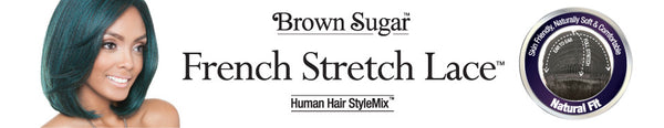 Isis Brown Sugar Human Hair Blend Flexible French Stretch Cap Lace Wig - BS703 STARLIGHT