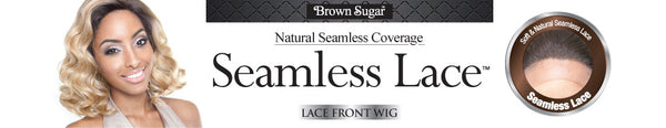 "Isis Brown Sugar Human Hair Blend Seamless Lace (3""X5"") Wig - BS505 VIENNA"