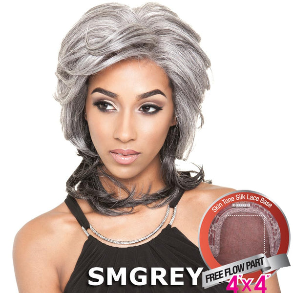 "Mane Concept Brown Sugar Human Hair Blend Silk Lace Wig - BS611 (4""X4"" Lace)"