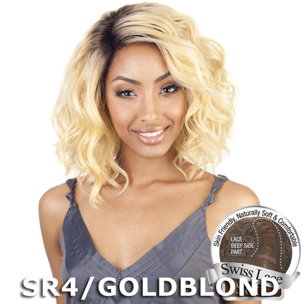 Isis Brown Sugar Human Hair Blend Soft Swiss Lace Wig - BS206