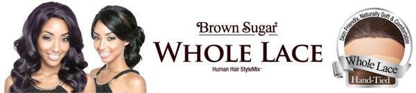 Isis Brown Sugar Human Hair Blend Soft Swiss Lace Whole Lace Wig - BS406