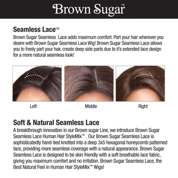 "Isis Brown Sugar Human Hair Blend Seamless Lace (3""X5"") Wig - BS504 FLORENCE"