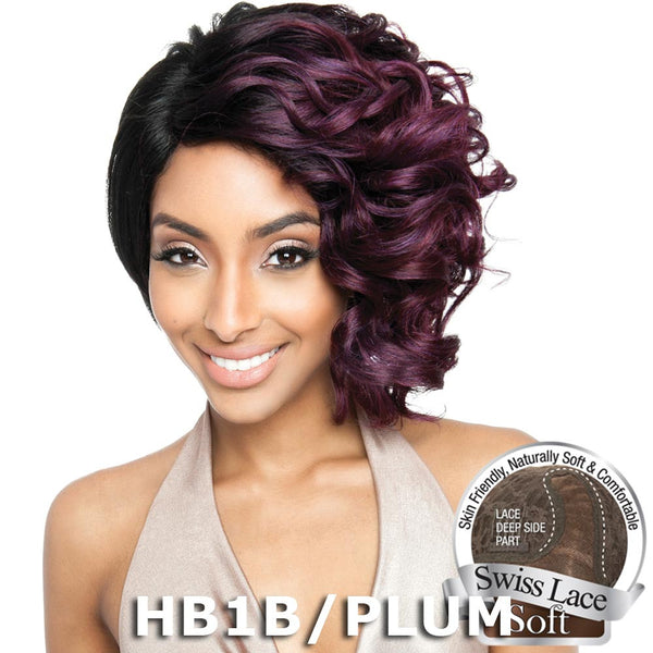 "Isis Brown Sugar Human Hair Blend Soft Swiss Lace Wig - BS218 (10"")"