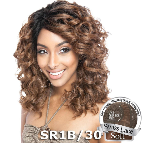 "Isis Brown Sugar Human Hair Blend Soft Swiss Lace Wig - BS219 (14"")"