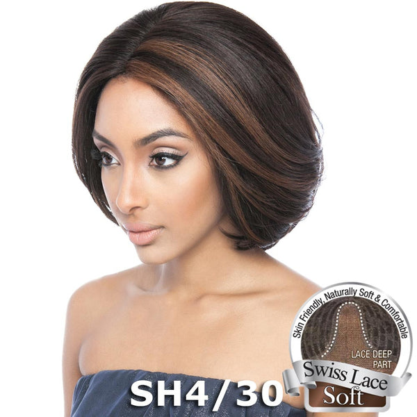 "Isis Brown Sugar Human Hair Blend Soft Swiss Lace Wig - BS222 (12"")"