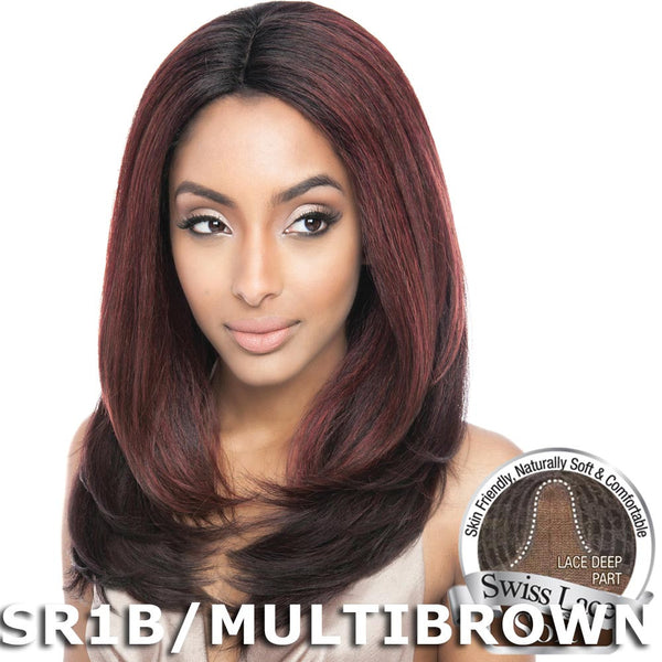 "Isis Brown Sugar Human Hair Blend Soft Swiss Lace Wig - BS223 (18"")"
