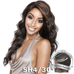 Brown Sugar Human Hair Blend Whole Lace Wig - BS405