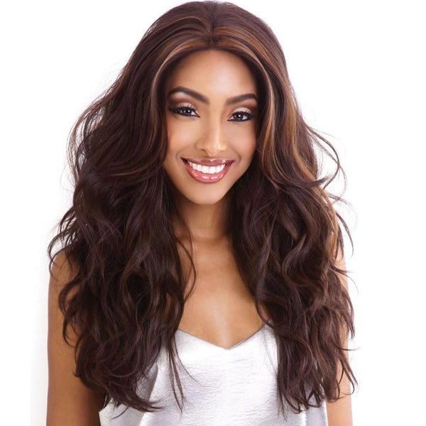 Brown Sugar Human Hair Blend Whole Lace Wig - BS406