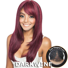 "Brown Sugar Human Hair Blend Bang Lace Wig - BSB01 SPADE (24"")"