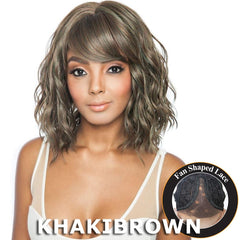 "Brown Sugar Human Hair Blend Bang Lace Wig - BSB04 DIA (14"")"
