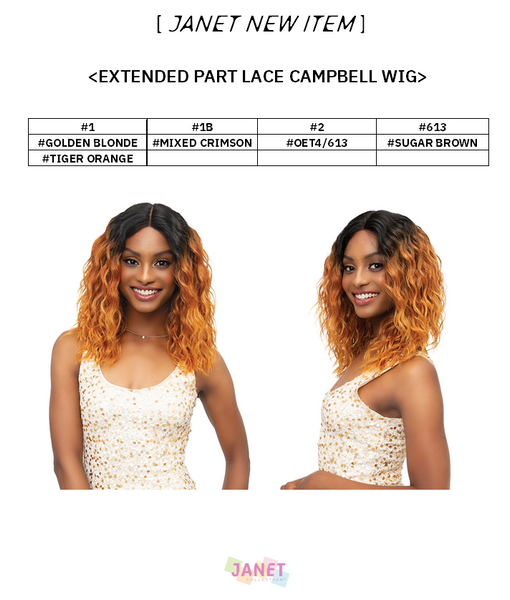 Janet Extended Part Lace Front Wig - CAMBELL