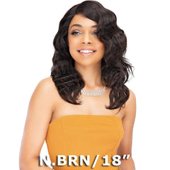 Janet Natural Human Hair Deep Part Lace Wig - NATURAL (Side Part)