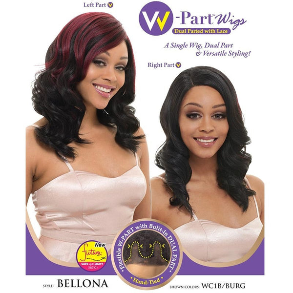 Janet Collection W-Part Lace Front Wig (Dual Part & Color) - BELLONA