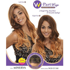 Janet Collection W-Part Wig (Dual Part & Color) - MINERVA WIG