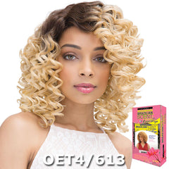 Janet Brazilian Scent Human Hair Blend Lace Front Wig - NAOMI