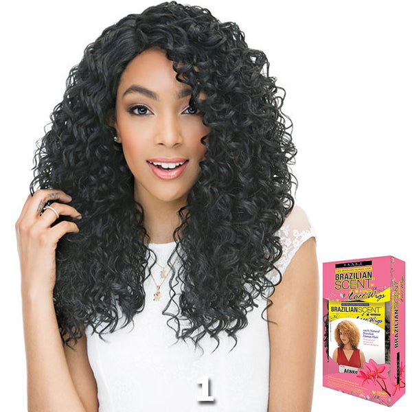 Janet Brazilian Scent Human Hair Blend Lace Front Wig - RAIN