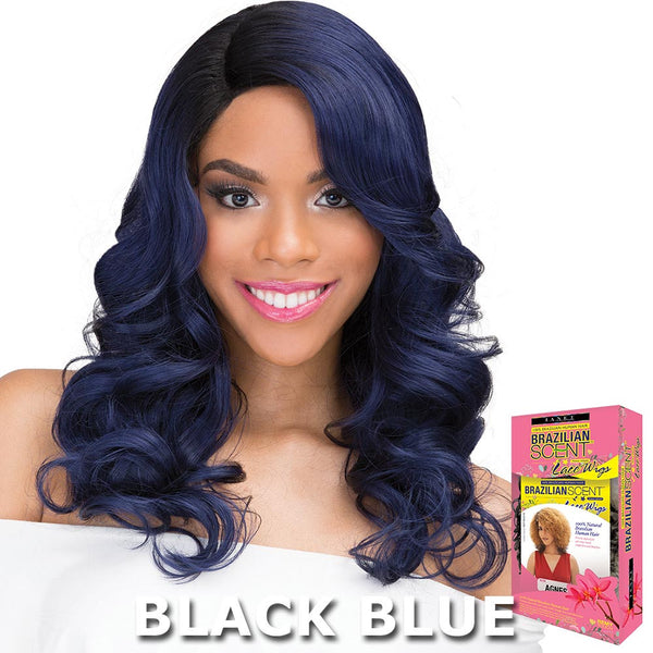 Janet Brazilian Scent Human Hair Blend Lace Front Wig - ROSLIN
