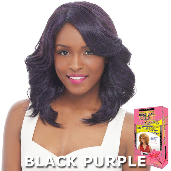 Janet Brazilian Scent Human Hair Blend Lace Front Wig - HAGELL