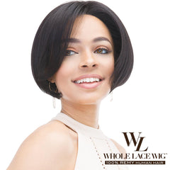 Janet Collection Remy Human Hair Whole Lace Wig - MINI