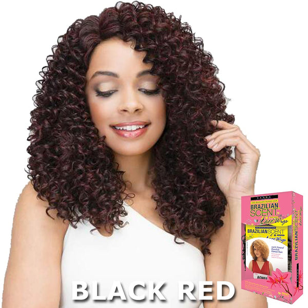 Janet Brazilian Scent Human Hair Blend Lace Front Wig - DOMINI