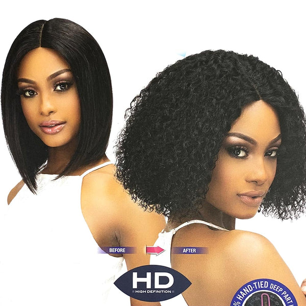 Janet Luscious Wet & Wavy Human Hair HD Lace Front Wig -  ADA
