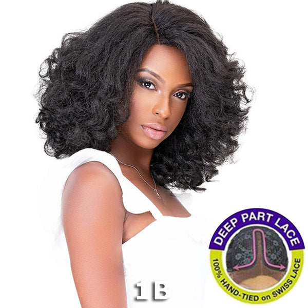 Janet Natural Me Yaky Texture Hair Lace Front Wig - HAZEL
