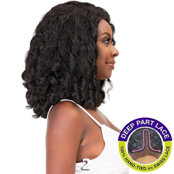 Janet Natural Me Yaky Texture Hair Lace Front Wig - AMANI