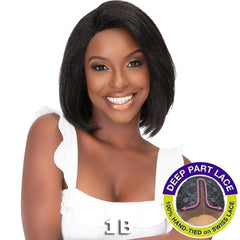 Janet Natural Me Yaky Texture Hair Lace Front Wig - ANN