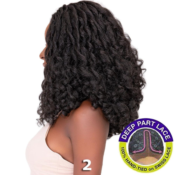 Janet Natural Me Yaky Texture Hair Lace Front Wig - JENNA