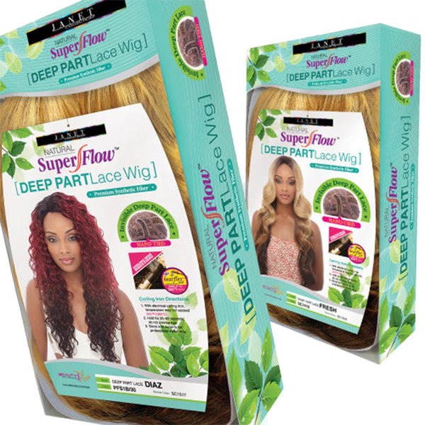 Janet Collection Super Flow Deep Part Lace Wig - BOHEMIAN