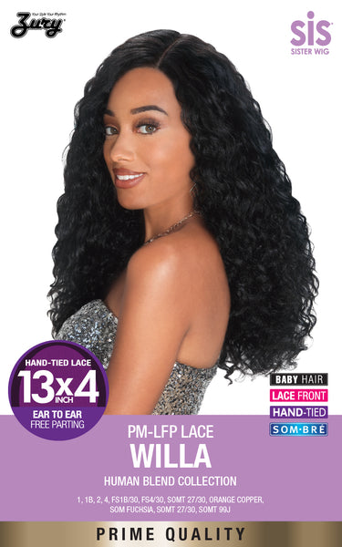 "Zury Sis Prime Human Hair Blend 13""X4"" Free-Parting Lace Front Wig - WILLA"
