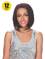 Hollywood Sis Afro Braid Lace Front Wig - BOB A-LINE 12""