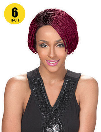Hollywood Sis Afro Braid Lace Front Wig - BOB PIXIE 6