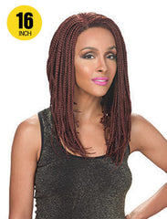Hollywood Sis Afro Braid Lace Front Wig - LOB ANGLED 16""