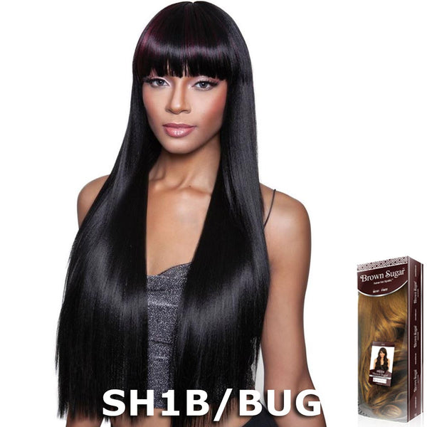 "Brown Sugar Human Hair Blend Full Wig - BS144 (30"")"