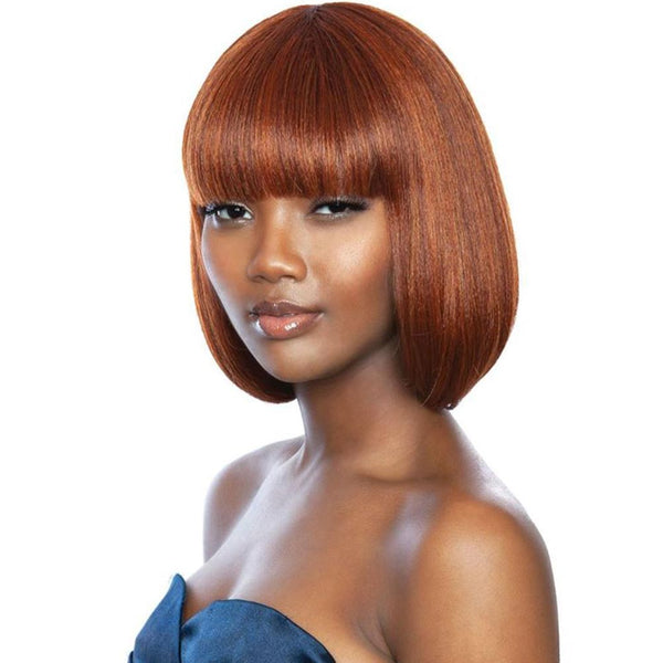 Melanin Queen Human Hair Blend Full Wig - ML104